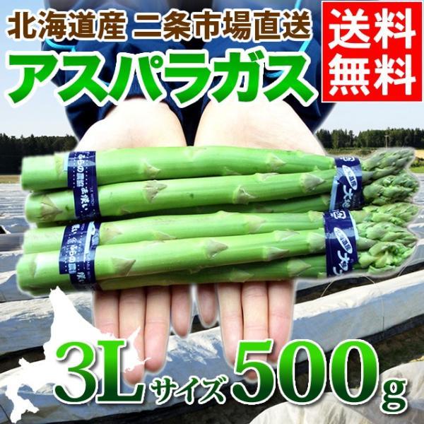 予約受付中 北海道産 アスパラガス グリーンアスパラガス 500g 3Lサイズ / 旬 産地直送 お取り寄せ 北海道 春野菜
