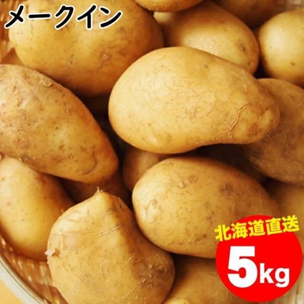 予約受付中 送料無料 北海道産 メークイン(M-2L混合)1箱5キロ入り / 5キロ 5kg 新じゃがいも めーくいん 北海道 お取り寄せ