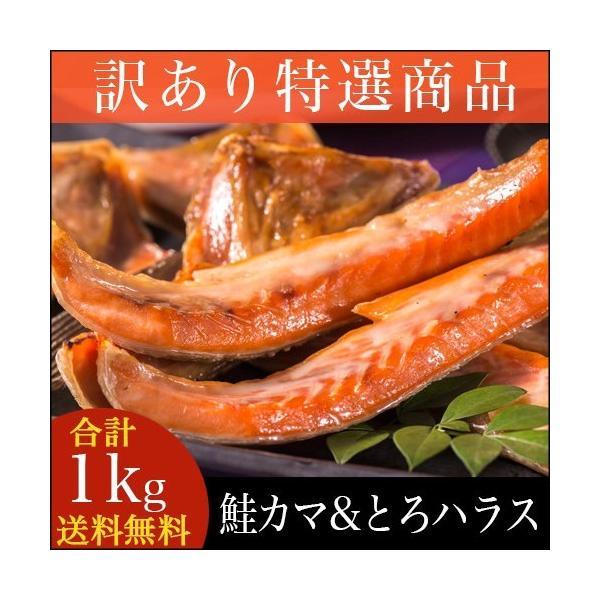 ■訳あり■鮭トロハラス & 鮭カマ セット(合計1kg) / わけあり 北海道 1キロ 業務用 鮭とろ|hokkaido-gourmation