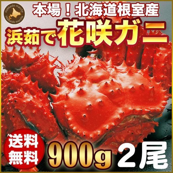 敬老の日 ギフト 2017 花咲ガニ 900g × 2尾 希少な 花咲ガニ 北海道産 蟹 hokkaido-marche