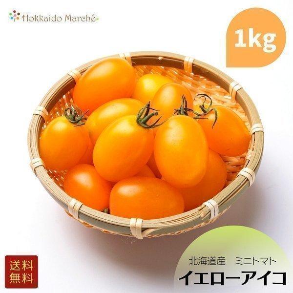 北海道産 ミニトマト 「イエローアイコ」 1kg お中元 御中元 夏ギフト 暑中見舞い