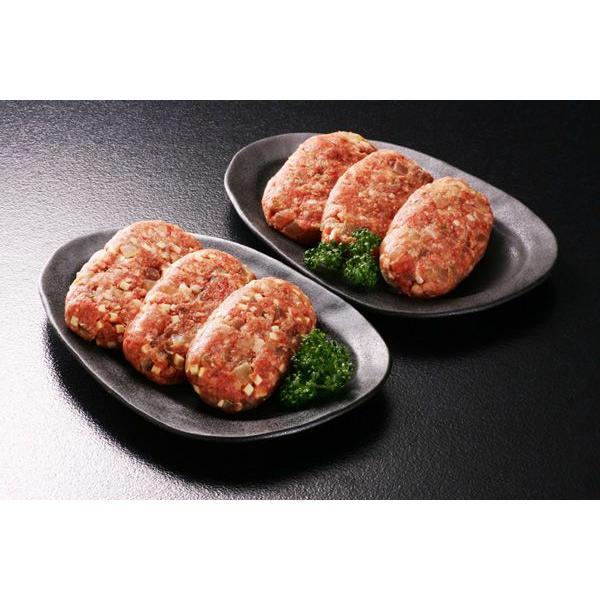 あべ牛(白老和牛)白老ハンバーグセットF(合挽)ハンバーグ(約100g×3枚)・(合挽)チーズハンバーグ(約100g×3枚) 冷凍商品 北海道 お土産