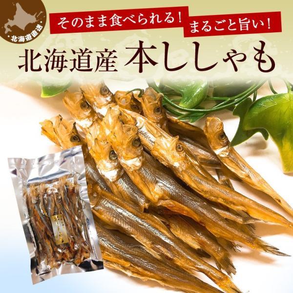 おつまみ 送料無料 ししゃも 寒干し 北海道産 50g 珍味 無添加|hokkaimaru|02