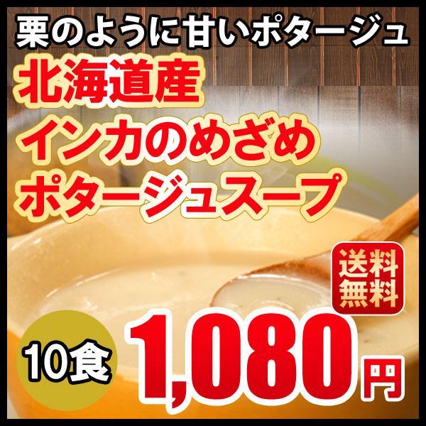 送料無料 メール便 インカのめざめポタージュ 10食セット 北海道 じゃがいも 1,200円ポッキリ