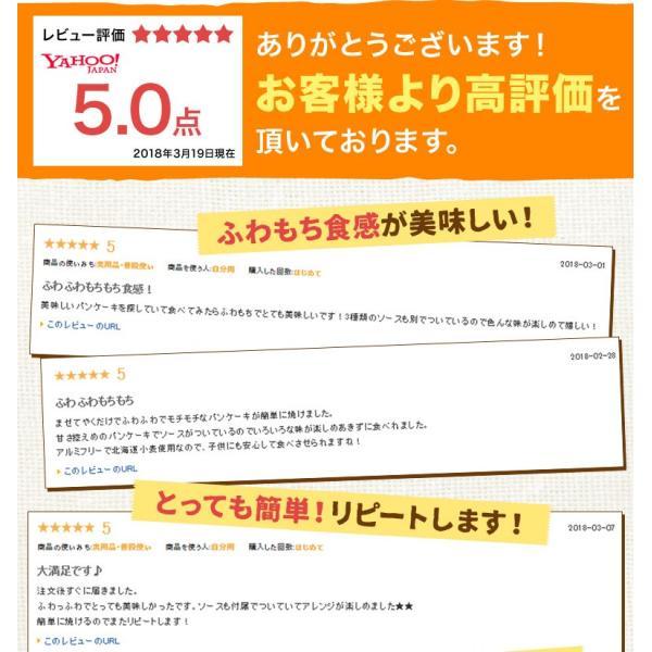 送料無料 北海道小麦100% パンケーキミックス 200g×3袋 特製ソース3種付 アルミフリー 小麦  ホットケーキ 業務用 メール便 ポッキリ hokkaimaru 02