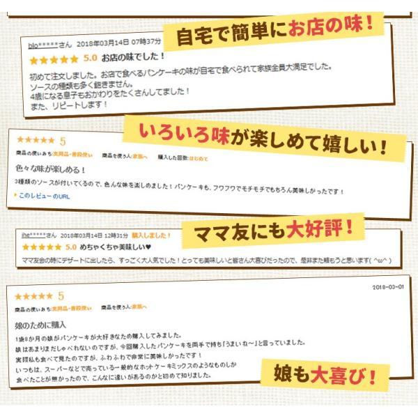 【ランキング1位獲得!】送料無料 パンケーキミックス 200g×3袋 特製ソース3種付 アルミフリー 北海道 小麦  ホットケーキ 業務用 メール便 ポッキリ|hokkaimaru|03