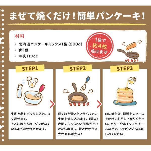 送料無料 北海道小麦100% パンケーキミックス 200g×3袋 特製ソース3種付 アルミフリー 小麦  ホットケーキ 業務用 メール便 ポッキリ hokkaimaru 07