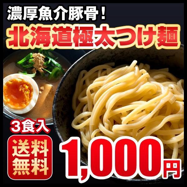 つけ麺 4食 濃厚魚介豚骨 北海道 極太生麺 ラーメン お取り寄せ 送料無料|hokkaimaru