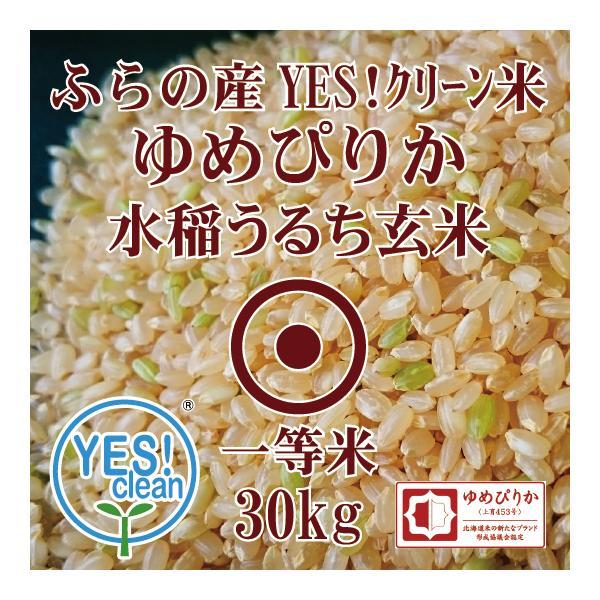 新米 YES!クリーン米 ふらの産 ゆめぴりか 30kg 令和3年産 玄米 一等米 第一区分 北海道米 品位検査済認証品