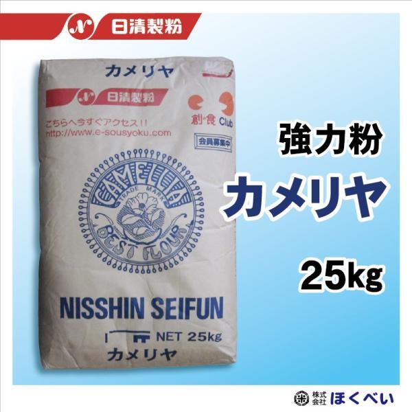 日清製粉 カメリヤ 25kg 業務用強力粉 【輸入小麦】