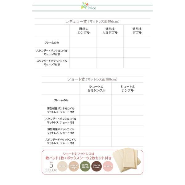 ベッドフレーム セミシングル 収納 引出付き 〔ショート丈〕|hokuo-lukit|17