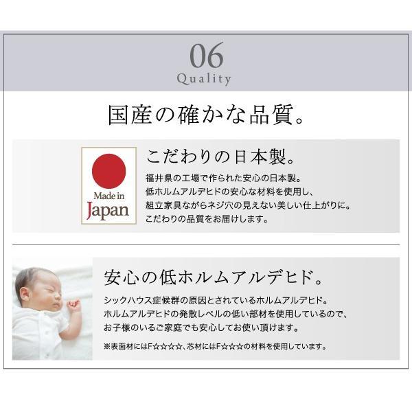 〔単品〕 フラップチェスト 1列3段 〔低めで揃える壁面収納〕 日本製|hokuo-lukit|15