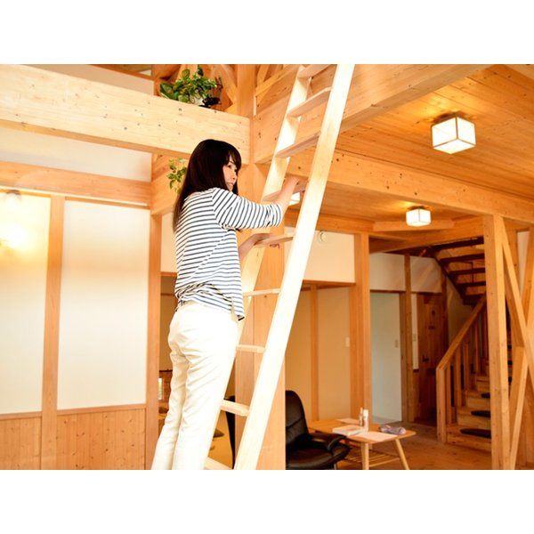 【9段】北欧ラダー 木製ロフトはしご 梯子 ハシゴ 階段 ベッド DOLLE (ドーレ)|hokuo-no-mori|03