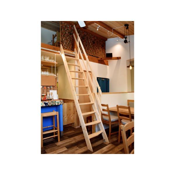 【デザインステップ】北欧産木製ロフト階段 梯子 ハシゴ ベッド 手摺付き 組み立て式 無塗装 DOLLE(ドーレ)|hokuo-no-mori|02