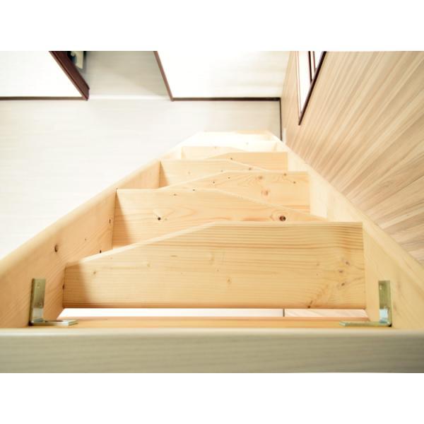【デザインステップ】北欧産木製ロフト階段 梯子 ハシゴ ベッド 手摺付き 組み立て式 無塗装 DOLLE(ドーレ)|hokuo-no-mori|03