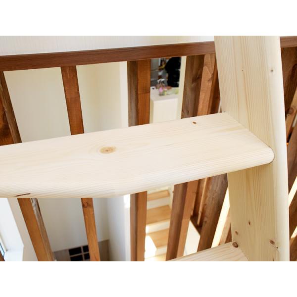 【デザインステップ】北欧産木製ロフト階段 梯子 ハシゴ ベッド 手摺付き 組み立て式 無塗装 DOLLE(ドーレ)|hokuo-no-mori|04