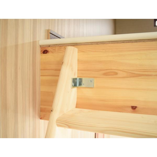 【デザインステップ】北欧産木製ロフト階段 梯子 ハシゴ ベッド 手摺付き 組み立て式 無塗装 DOLLE(ドーレ)|hokuo-no-mori|05