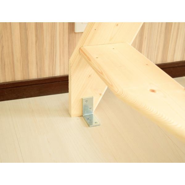 【デザインステップ】北欧産木製ロフト階段 梯子 ハシゴ ベッド 手摺付き 組み立て式 無塗装 DOLLE(ドーレ)|hokuo-no-mori|06