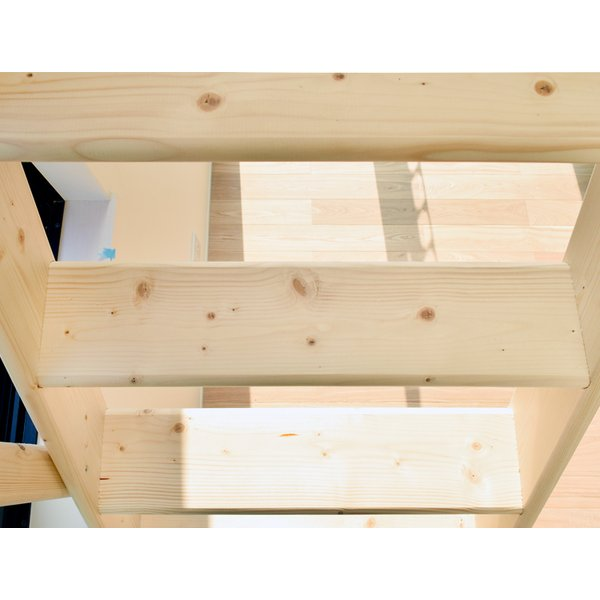 【ワイドステップ】北欧産木製ロフト階段 梯子 ハシゴ ベッド 手摺付き 組み立て式 無塗装 DOLLE(ドーレ)|hokuo-no-mori|02