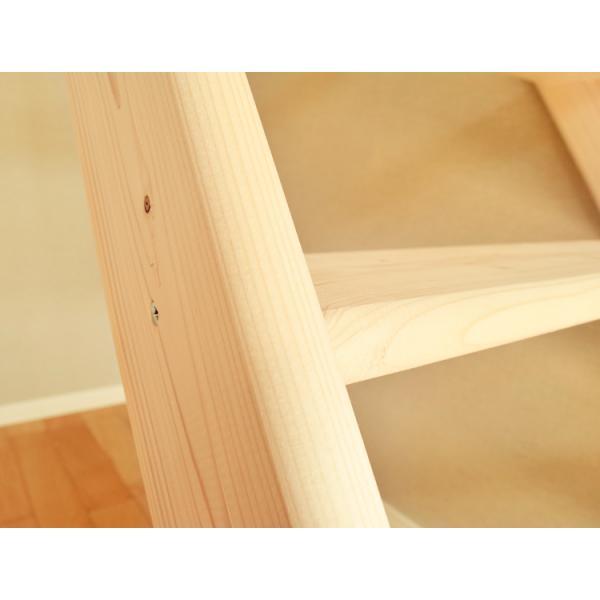 【ワイドステップ】北欧産木製ロフト階段 梯子 ハシゴ ベッド 手摺付き 組み立て式 無塗装 DOLLE(ドーレ)|hokuo-no-mori|04