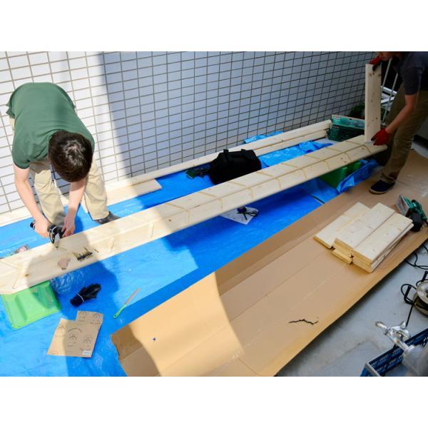【ワイドステップ】北欧産木製ロフト階段 梯子 ハシゴ ベッド 手摺付き 組み立て式 無塗装 DOLLE(ドーレ)|hokuo-no-mori|06