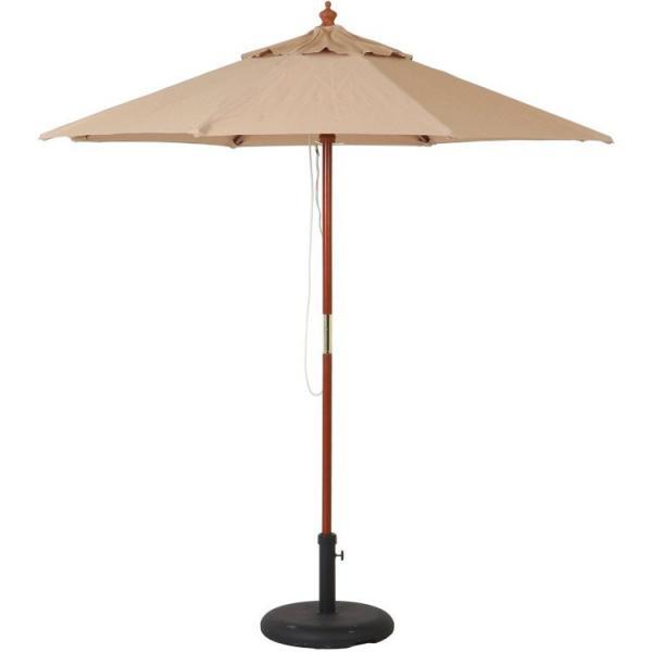 ガーデンパラソル おしゃれ 木製パラソル 210cm 大型 アウトドア 庭 カフェ UVカット 紫外線カット 高さ222cm 木製パラソル