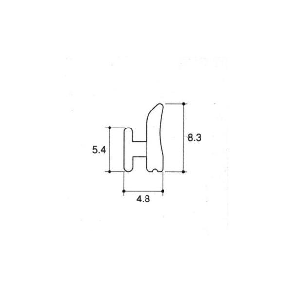 旧立山アルミ補修用部品 雨戸 気密材:気密材10m[JB008] 立山サッシ 雨戸サッシ 雨戸付きサッシ 雨戸付き窓 ゴム材 AT材