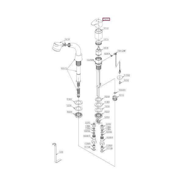 TOTO水回り部品 洗面所 洗面所水栓 ハンドル:レバーハンドル(THA10)|hokusei2|04