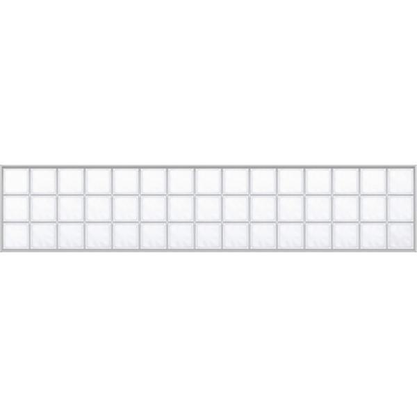 YKKAPアルミインテリア スクリーンパーティション[採光ユニット] アクリルブロックFIX(アルミ枠) 呼称幅237(幅2376mm)ブロック横15列:[幅2376mm×高564mm]【YKK|hokusei