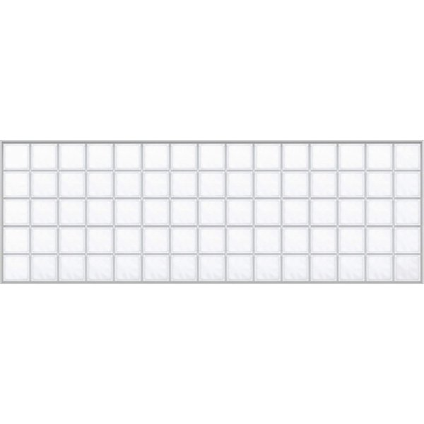YKKAPアルミインテリア スクリーンパーティション[採光ユニット] アクリルブロックFIX(アルミ枠) 呼称幅237(幅2376mm)ブロック横15列:[幅2376mm×高868mm]【YKK hokusei