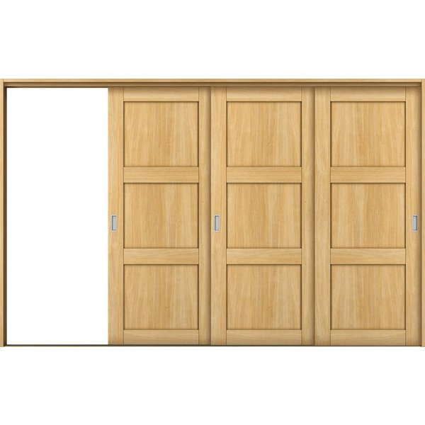 YKKAP室内引戸 ラフォレスタ[ラスティック] 3枚片引き戸 NB ケーシング枠:[幅3222mm×高2033mm] YKK YKK室内引戸 室内引き戸 室内建具 木製建具|hokusei|01