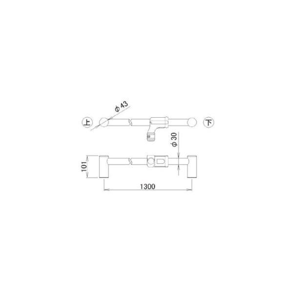 LIXIL補修用部品 住器用部品 バスルーム 器具 握りバー・タオル掛け:シャワースライドバー L1300[RTEZ008]