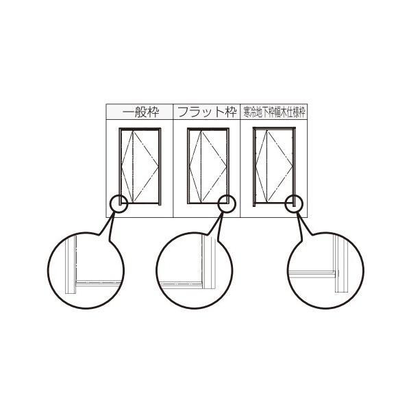 YKKAP玄関 断熱玄関ドア ヴェナート[スマートコントロールキー][A] 両袖FIX D2仕様[ドア高23タイプ]:S23型[幅1235mm×高2330mm] ykk  YKK玄関ドア  断|hokusei|05