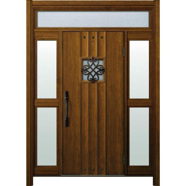 YKKAP玄関 リフォーム玄関ドア ドアリモ断熱タイプ[電気錠] D2仕様[ランマ付/Aタイプ] 両袖FIX(中桟付):M09V ykk ドアリモ 取り替え 取替 交換|hokusei|01