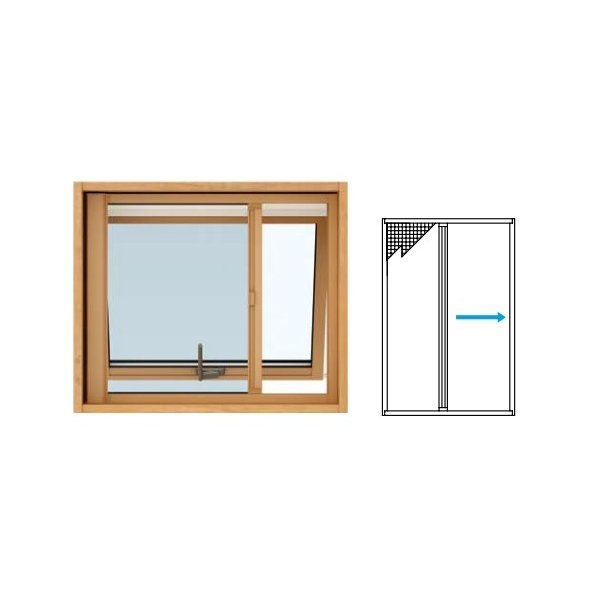 [すべり出し窓用] エピソードNEO:横引きロール網戸 窓サッシ 装飾窓 YKKAPオプション