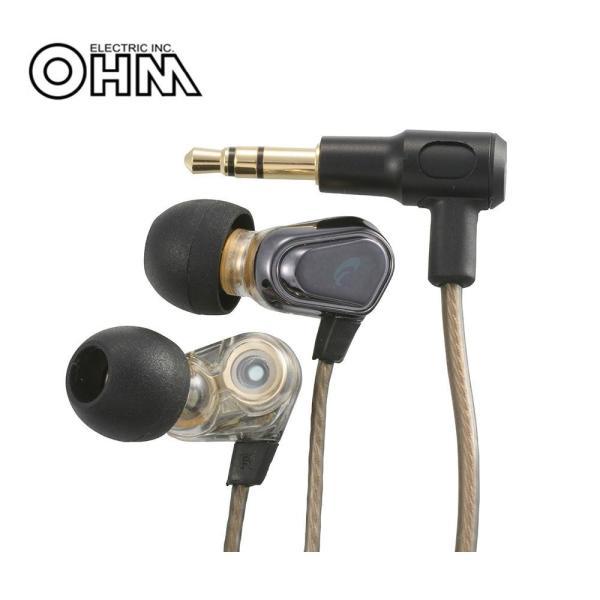 OHM AudioComm ステレオイヤホン ブラック HP-B165N-K