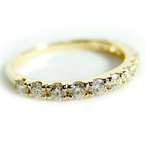 ダイヤモンド リング ハーフエタニティ 0.5ct 11号 K18 イエローゴールド ハーフエタニティリング 指輪