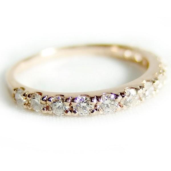 ダイヤモンド リング ハーフエタニティ 0.5ct 10.5号 K18 ピンクゴールド ハーフエタニティリング 指輪