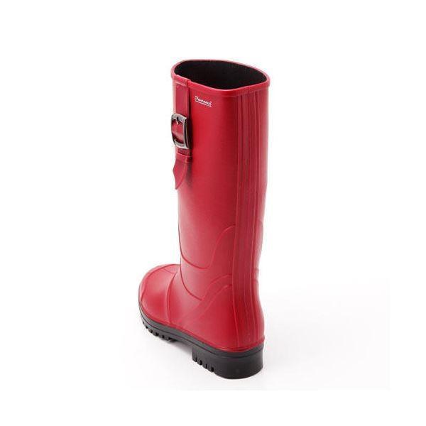 PATERNAZZI イタリア製ロングレインブーツ RED (レッド) 38サイズ 約24cm