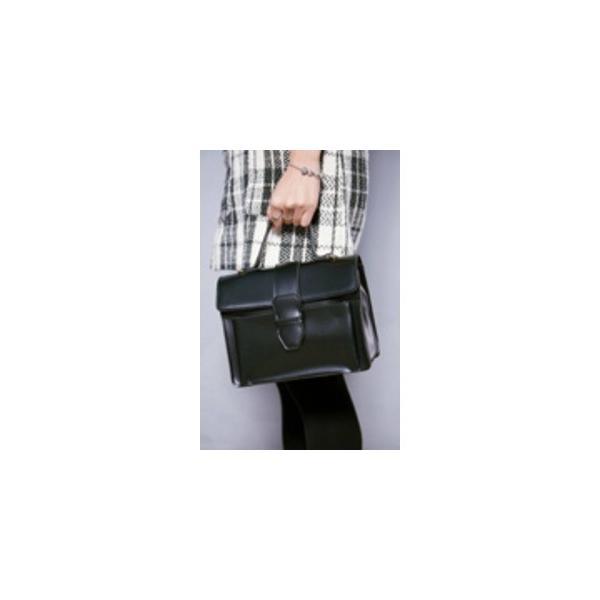 ショルダーストラップ付 クラシカルなシンプルハンドバッグ/キャメル