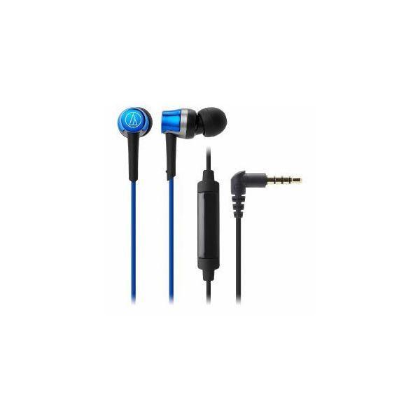 Audio-Technica オーディオテクニカ ATH-CKR30IS-BL マイク&コントローラー搭載ダイナミック型カナルイヤホン(ブルー)