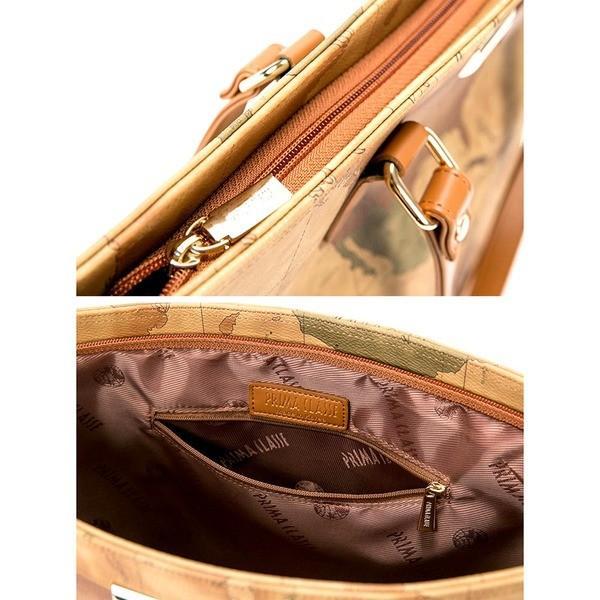 PRIMA CLASSE(プリマクラッセ) PSH7-6114 切り替え素材のトートバッグ (ブラウン)