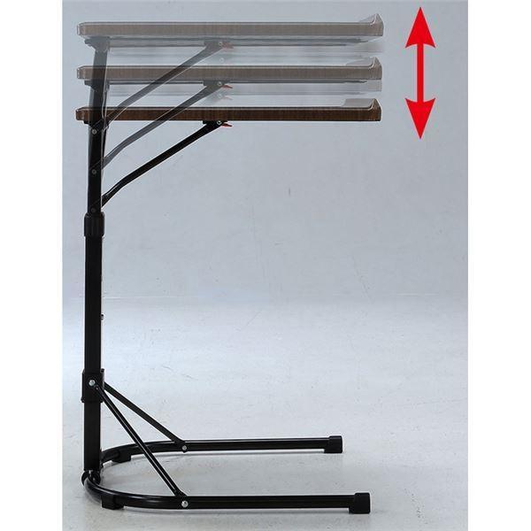 マルチテーブル/サイドテーブル 〔ホワイト〕 幅44.5cm 角度・高さ調節可能 スチール 〔リビング ベッドルーム〕|hokutoku|02