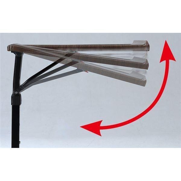 マルチテーブル/サイドテーブル 〔ホワイト〕 幅44.5cm 角度・高さ調節可能 スチール 〔リビング ベッドルーム〕|hokutoku|03