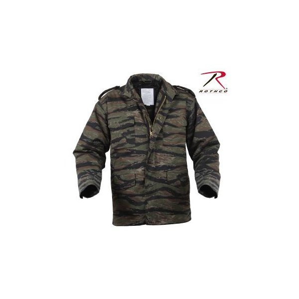 M65 Field Jacket Tiger Stripes Camo with Liner Sizes S,M,L,XL,2XL,3XL