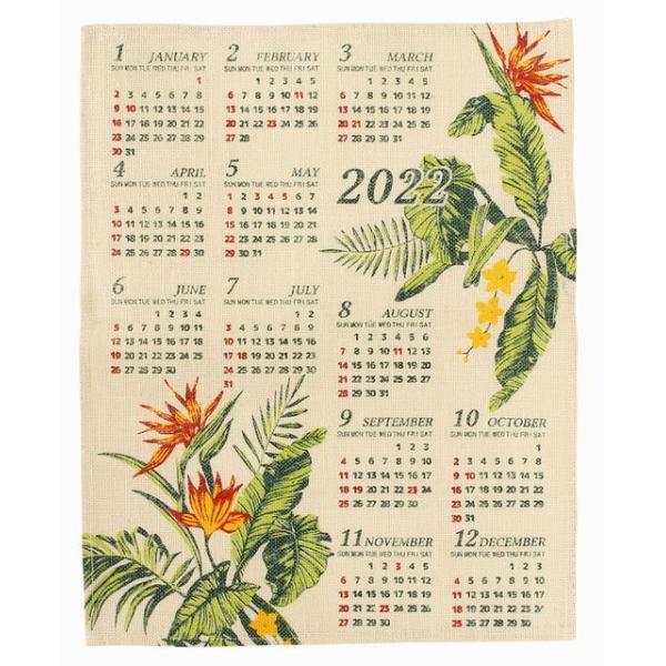 送料無料 ハワイアン雑貨 インテリア ハワイアン 2022年 ジュート カレンダー 壁掛けカレンダー ワンページ ポスター(エルバ バードオブパラダイス) 壁掛け