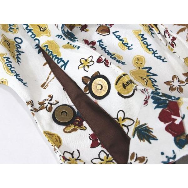 ハワイアン バッグ ハワイアン雑貨 ヴィンテージ ミニトートキャンバス バッグ (フラガール&ハワイ/ホワイト) Kahiko 4IKP9126WH ハワイアン 雑貨