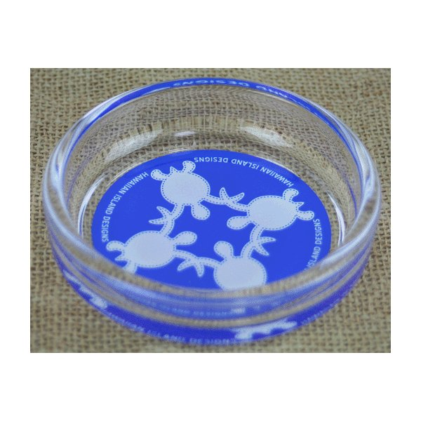 ハワイ 土産 お土産 ハワイアン インテリア ハワイアン雑貨 ハワイアンOld-Fashioned 小物入れ灰皿 マルチトレイ HOA-08(ブルー)HID