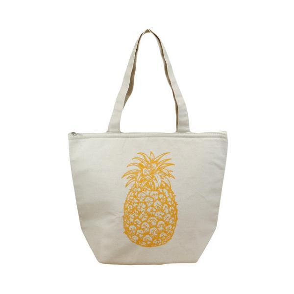 ハワイアン 保温保冷バッグ トートバッグ ハワイ バッグ パイナップル (ナチュラル) maka hou ハワイアン雑貨 ハワイ