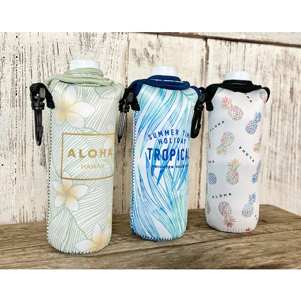 ハワイアン ネオプレン ペットボトルカバー 防水 (パイナップル) ウェットスーツ素材 雑貨 ハワイアン バッグ ハワイ雑貨